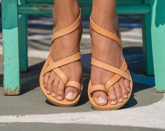 Leather sandals/ sandals leather women/ Sandales grecques/ Sandales cuir femme/ Handmade leather strappy sandals/ Women greek sandal/  KLEIO