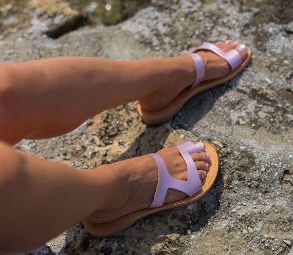 sandals sandals Women's sandals Leather Handmade Ancient sandals Greek ARIES Greece Ancient sandals sandals Pink Elegant Triskelion gqXqza