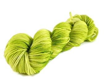 Worsted Yarn, Superwash Merino yarn, worsted weight yarn, worsted wool yarn, 100% Superwash Merino, green, yellow, merino worsted - Fiona