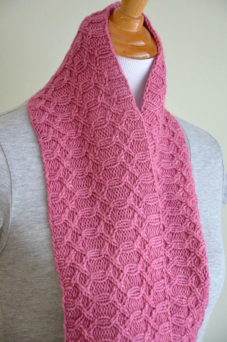 Infinity Scarf Knitting Pattern Infinity Cowl Cabled Cowl Etsy