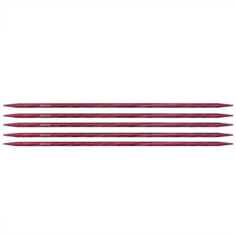 Knitter's Pride Dreamz Double Point Knitting Needles Size US 6 (4mm), DPN,  5 inch, 6 inch, 8 inch double point needles, wood needles