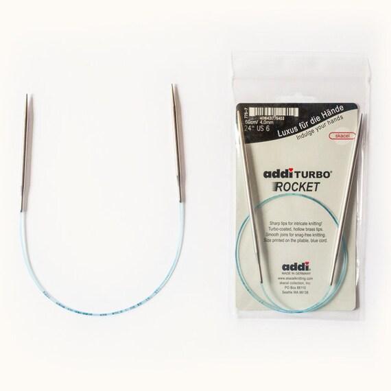 US 2 Circular Knitting Needles 3.0mm Squared addi Rocket2 16 Inch