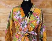 Women 39 s Kantha Jacket,Unique Reversible, Boho Wear, Kantha Coat, Handmade, Vintage Coat, Hand Quilted Jacket, Festival Fashion,Medium GJ124