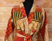 Women 39 s Kantha Jacket,Unique Reversible, Boho Wear, Kantha Coat, Handmade, Vintage Coat, Hand Quilted Jacket, Festival Fashion,Medium GJ127