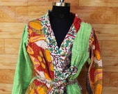 Women 39 s Kantha Jacket,Unique Reversible, Boho Wear, Kantha Coat, Handmade, Vintage Coat, Hand Quilted Jacket, Festival Fashion,Medium GJ129