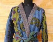 Women 39 s Kantha Jacket,Unique Reversible, Boho Wear, Kantha Coat, Handmade, Vintage Coat, Hand Quilted Jacket, Festival Fashion,Medium GJ139