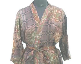 SALE 10/% OFF Recycled Fabric Robes Ethnic Kimono Gypsy Wear Pure Silk Robe Beach Wear Night Wear Bohemian Fashion Hippie Fashion #21