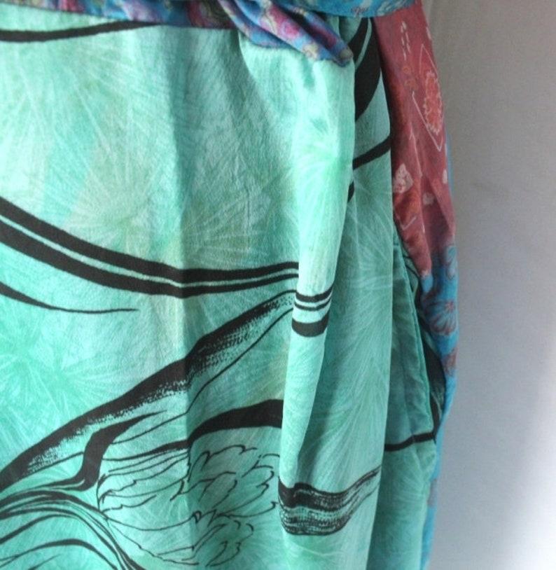 SALE!-15/%!!!Beach Robe Kimono Robe Swim Wear Robe Night Wear Art Silk Robe Silk Kimono Robe Gown Indian Saree Kimono #TMK 141