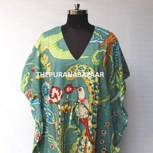 Indian Kaftan Indian Floral Kaftan Beach Cover up Sleepwear Long Caftan,Dress For to be Moms Maxi Dress,Bikini Cover Up