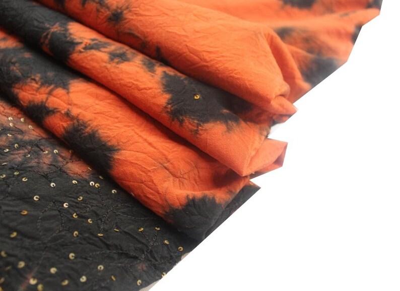 tie dye crape sari beautiful tie dye fabric tie dye colorful fabric fabric by the yard kimono fabric multi color sari vintage saree