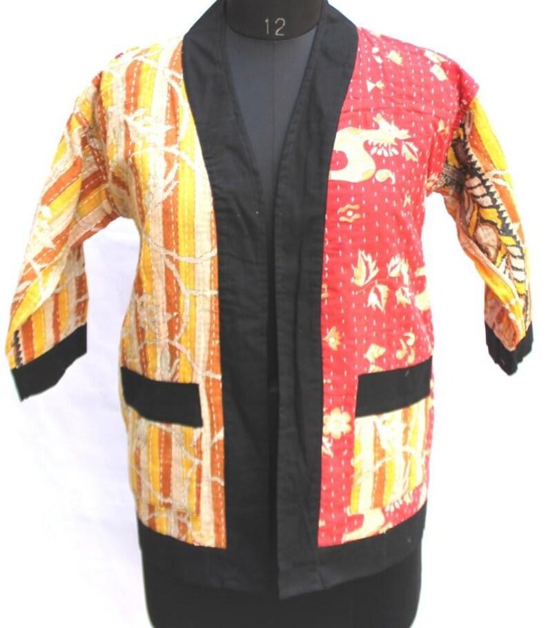 cc0283dfa Vintage Kantha Jacket Kantha Kimono Jacket Bohemian Jacket Jacket with  Beautiful Kantha