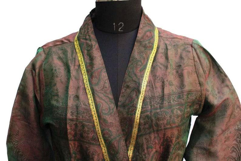 Beach Robe Kimono Robe Swim Wear Robe Night Wear Vintage Sari Robe Saree Kimono Robe Kimono Gown Kimono India #K163
