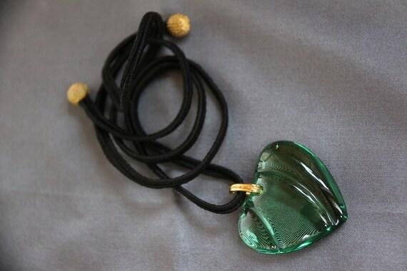 Baccarat heart, crystal heart, green heart, transp