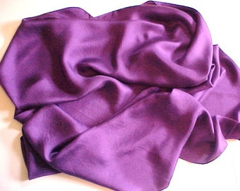 BIG Square Purple Silk Scarf vintage twill