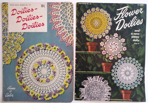 Vintage 1949 Star Book Crochet Flower Doilies #64 Instructions