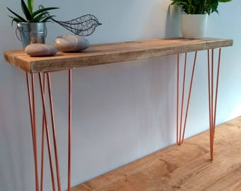 Hairpin table legs etsy hall console table vintage retro hairpin leg industrial rustic greentooth Choice Image