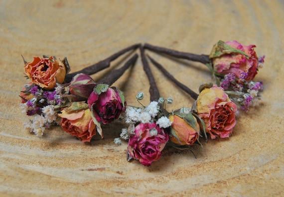 Echte Blume Haar Drahte Floralen Drahte Haarnadeln Haar Etsy