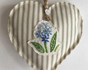 Blue Floret Heart