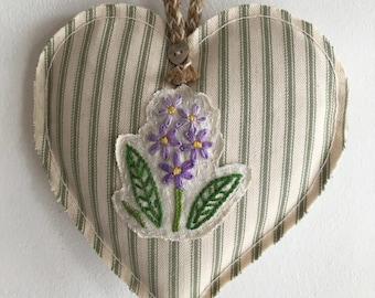 Lilac Floret Heart