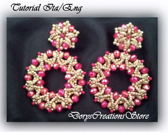 Beaded Earrings Tutorial Sunburst,Step By Step ith Detailed Pictures