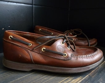 a0a5cbdef71f8f Boat Shoes 2 eye Men s leather shoes. Size 6.5 UK