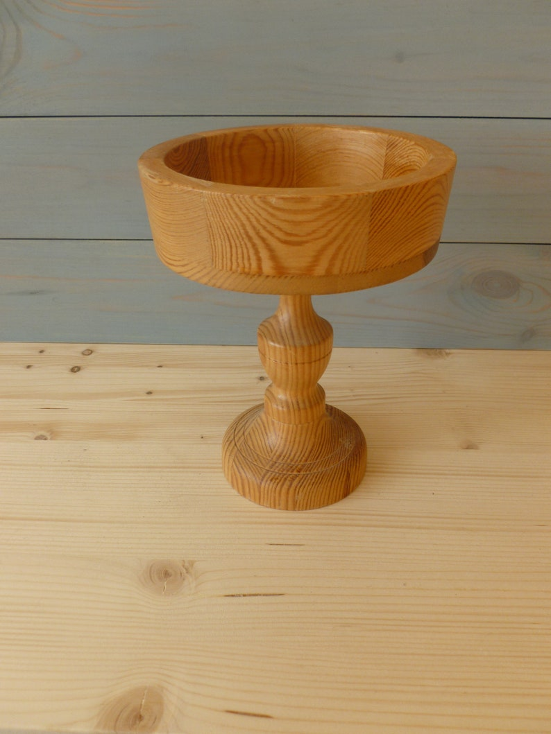 table centerpiece jewelers Pedestal bowl Wooden Pedestal bowl