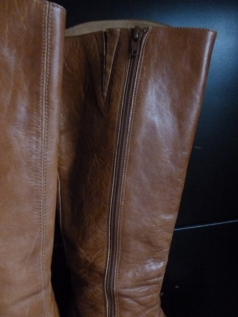 BIANKO Leather Cowgirl boots Cowboy boots brown leather 6.5 uk. 8.5 us size 39 eur