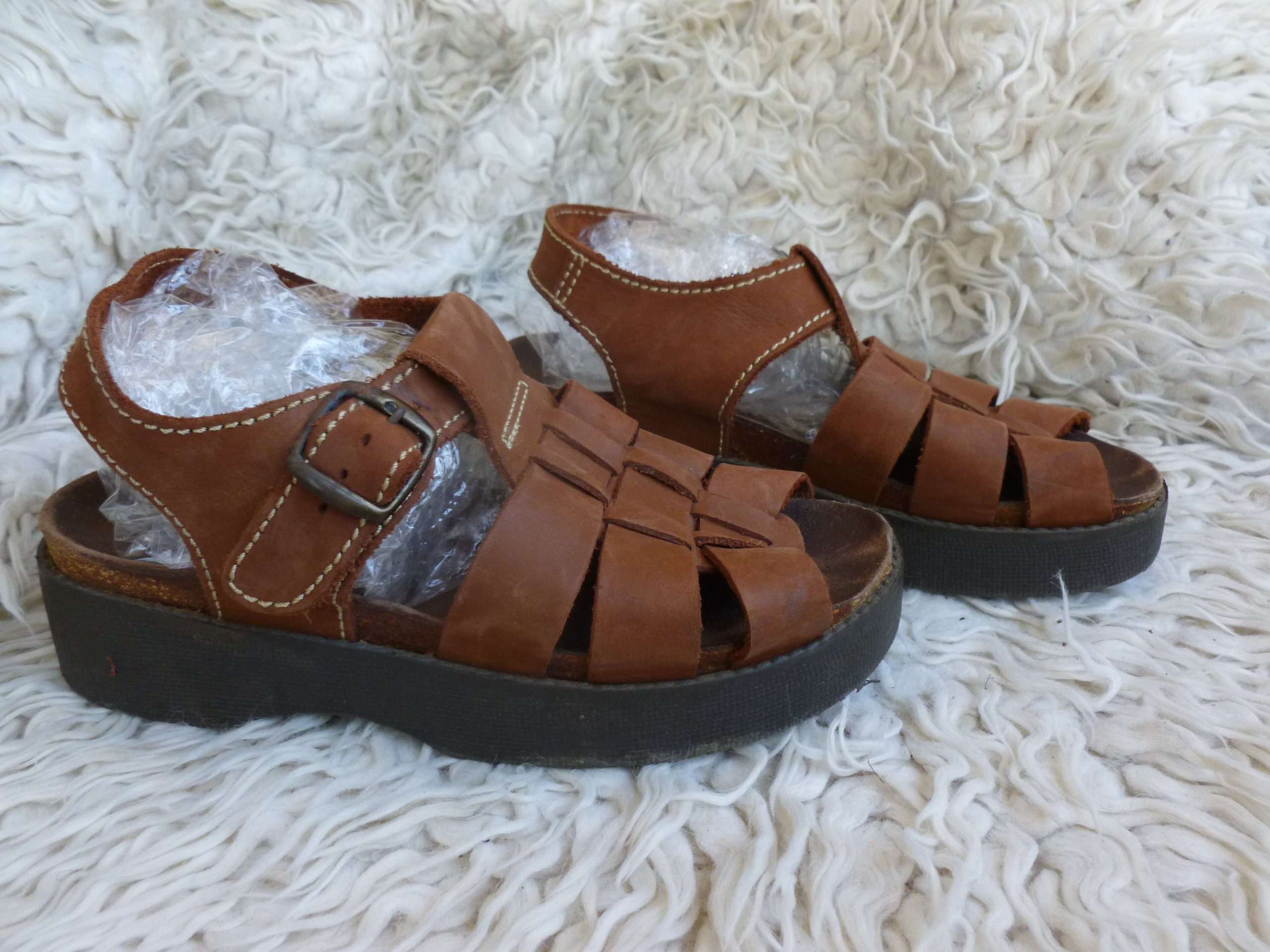 les sandales - chaussures à plate - forme - - - marron -  euros, ,,  royaume - uni.en espagne da9c66