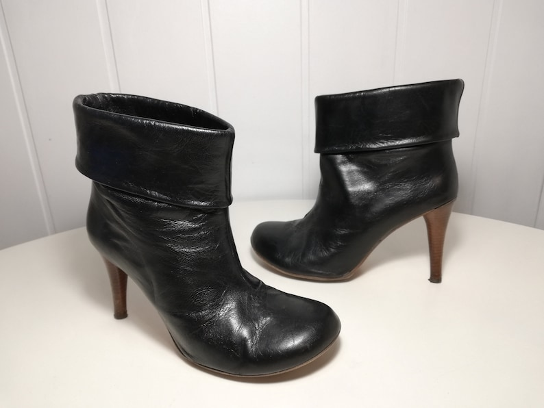 8 us 6 Women\u2019s ankle boots black leather boots Size 39 eur uk