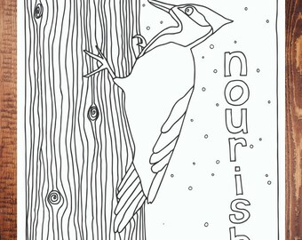 Nourish Coloring Page