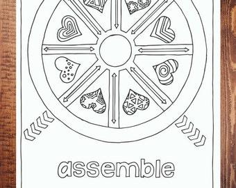 Assemble Coloring Page