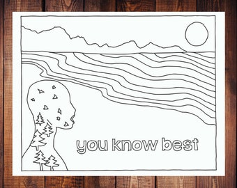 You Know Best Coloring Page