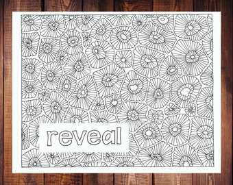 Reveal Coloring Page