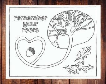 Remember Your Roots Coloring Page