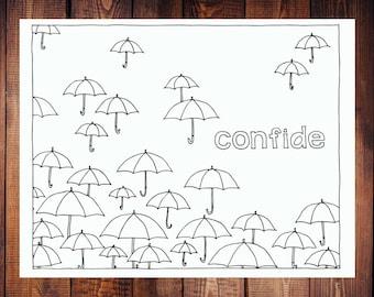 Confide Coloring Page