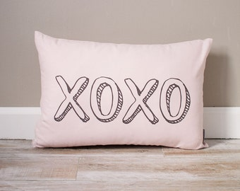 XOXO Pillow | Monogrammed Valentine's Gift | Gifts For Her | Valentine's Day Gift | Rustic Decor | Holiday Decor | Monogrammed Pillow