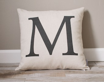 Monogram Pillow | Personalized Pillow | Personalized Gift | Monogrammed Gift | Rustic Home Decor | Home Decor | Dorm Decor | Wedding Gift
