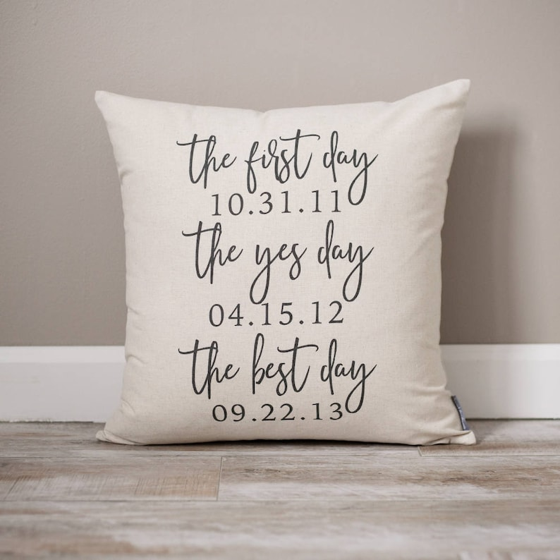 The First Day The Yes Day The Best Day  Wedding Gift  image 0