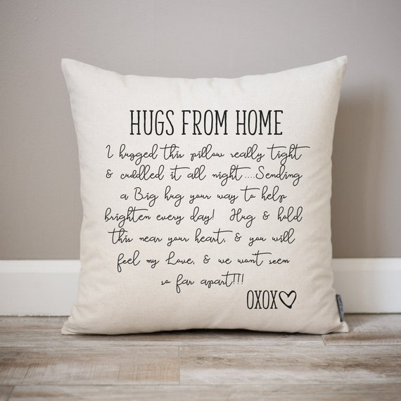 Hugs From Home Pillow | Dorm Decor