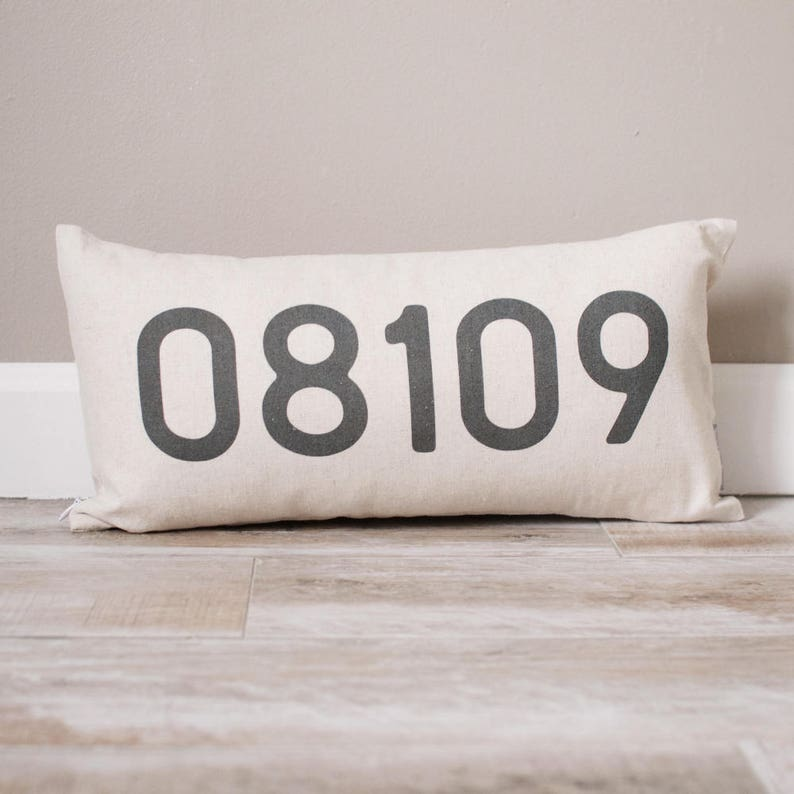 Personalized Zip Code Pillow  Personalized Pillow  Dorm image 0