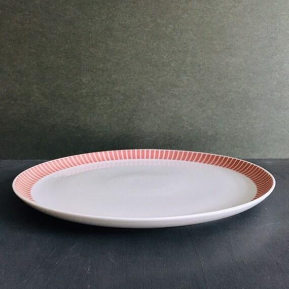 Vintage Porcelain Plate Red Stripes Melitta Germany Form Etsy