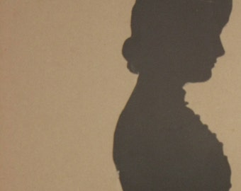 Antique Silhouette/ Harriet Learned Howland/ Antique Portrait Silhouette/ Cut Paper Silhouette