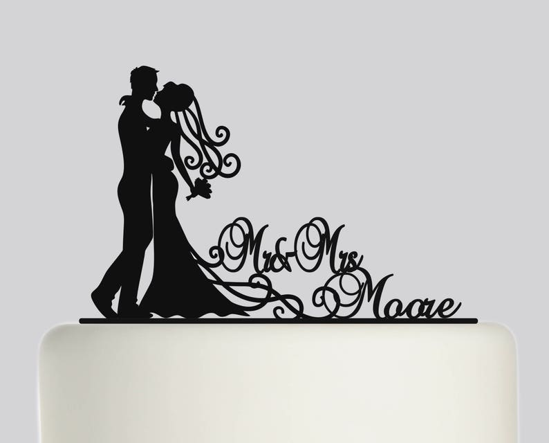Mary Poppins Wedding Personalised Rose Gold Mirror Birthday Cake Topper.196