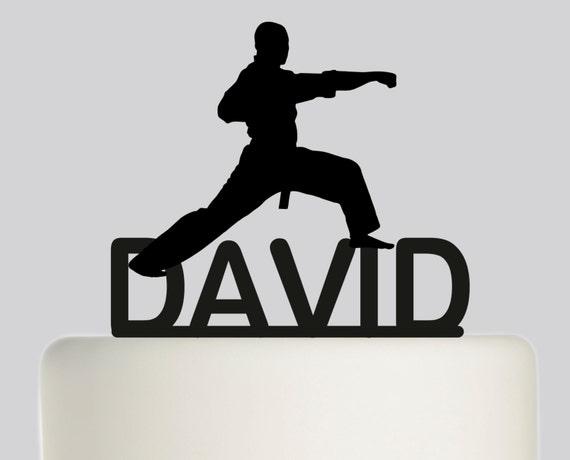 Birthday Cake Topper Karate Taekwondo YOUR NAME