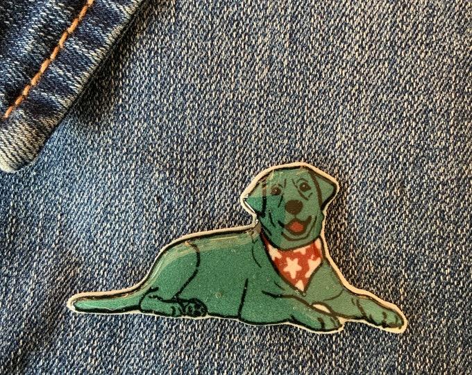 Dog Pin - Labrador Badge, Hand Made, mothers day, christmas gift, birthday gift, dog lover