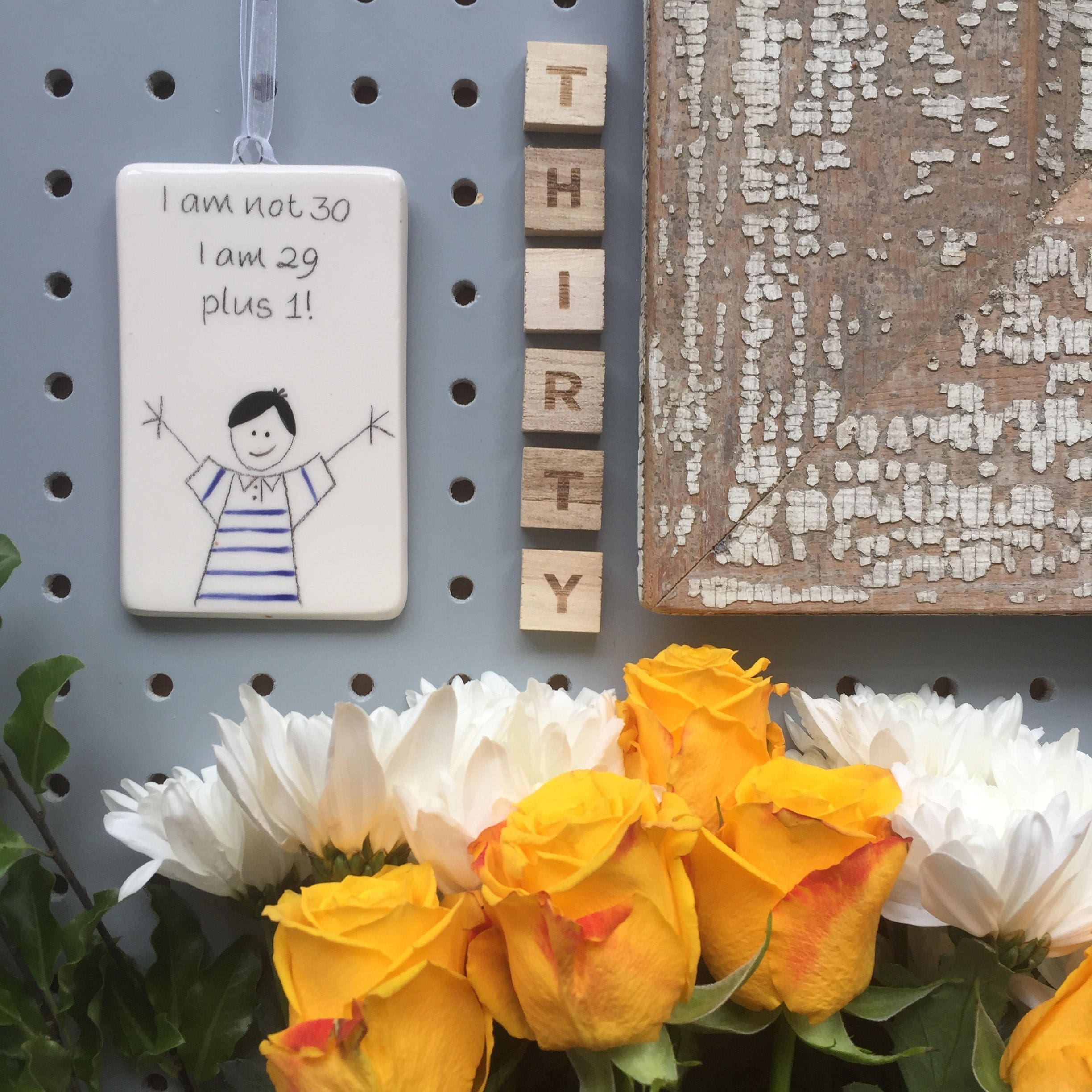 30 i am not 30 i am 29 plus 1 hand painted ceramic rectangle 30 i am not 30 i am 29 plus 1 hand painted ceramic rectangle plaque birthday gift for him dad brother friend uncle izmirmasajfo