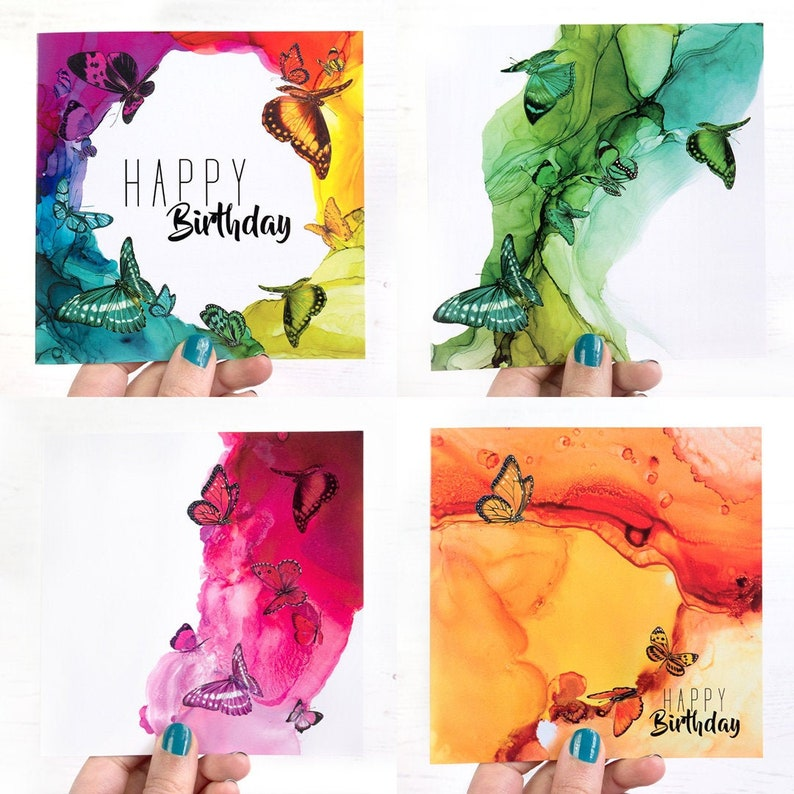 Rainbow greeting cards SPECIAL OFFER 4 cards for 12  mix n image 0