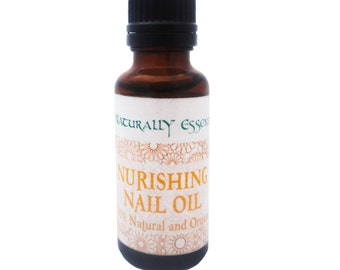 Organic Nail and Cuticle Oil - Nourish and Strengthen - 100% Natural and Organic