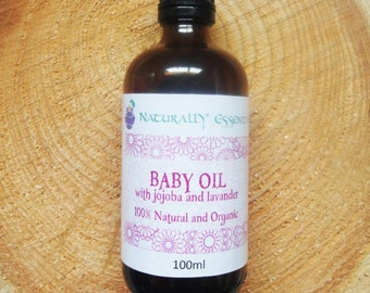 Organic Baby Massage Oil - 100% Natural and Organic - Soothing Lavender Baby Massage Oil -