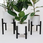 Plant stand - Black Stained Solid Oak